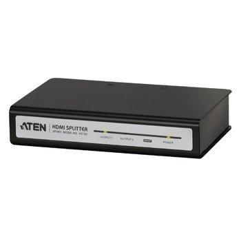 De Aten 2-poorts HDMI splitter maakt het mogelijk om beeld en geluid van een blu-rayspeler, HD-satellietontvanger, settopbox of spelcomputer gelijktijdig te tonen op 2 HDTV-schermen. Hierdoor wordt het overbodig om HDMI kabels te wissel...