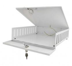 AWO447 DVR safe small with fan safe size internal: b395xh100xd430mm external: b405xh120xd435mm