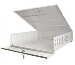 AWO471 DVR kluis groot met fan kluismaat intern: b545xh125xd570mm, extern: b555xh145xd575mm, voor bescherming van uw harddiskrecorder van bijv uw camerasysteem.