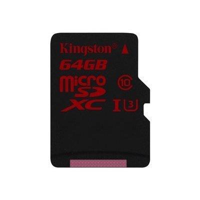 tarjeta SD de 64 GB Kingston Micro. Esta memoria tiene una gran capacidad y cumple con los requisitos de especificación SD Association a la clase 10 para contestar. El mapa puede ser perfectamente utilizado para almacenar las imágenes de las cámaras de Hi