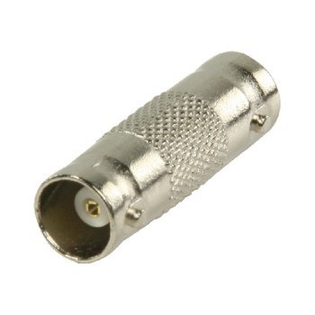BNC connector koppelstuk per stuk. Met dit koppelstuk kunt u eenvoudig een 2 coaxkabels met BNC connectoren met elkaar verbinden of verlengen.