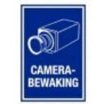 Warning sign Camera surveillance PVC