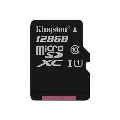 Kingston 128 GB Micro SD-Karte. Dieser Speicher hat eine große Kapazität und erfüllt die SD Association Specification Anforderungen der Klasse 10 zu beantworten. Die Karte kann perfekt genutzt werden zum Speichern von Bildern von Hikvision Kamera ....