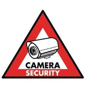 König CCTV Waarschuwingssticker