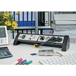 Brennenstuhl Overspanningsbeveiligde Stekkerdoos Premium-Office-Line 4-Wegs1.80 m - Protective Contact