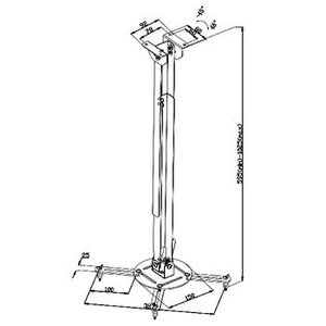 Valueline Projector Plafondbeugel Draai- en Kantelbaar 10 kg Zilver