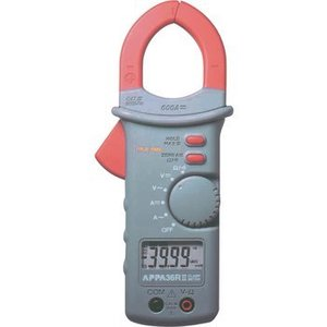 Appa Current clamp meter, 600 AAC, 600 ADC, TRMS