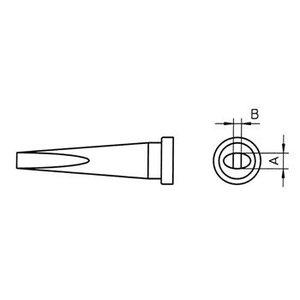 Weller Soldeertip 1.2 x 0.4 mm Lang
