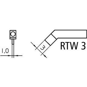 Weller Tweezer soldering tip pair Beitel, Gebogen 45° 3 mm