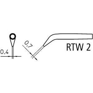Weller Tweezer soldering tip pair Beitel, Lengte 6.0 mm 0.7 mm