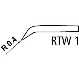 Weller Tweezer soldering tip pair Conisch, Gebogen 45°