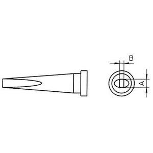 Weller Soldeerstift Beitelvormig, Lang 1.2 mm
