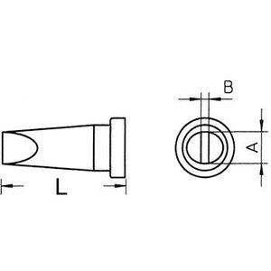 Weller Soldeerstift Beitelvormig 0.8 mm