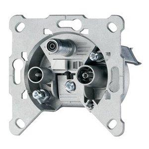 Hirschmann Antenne Wandcontactdoos (Uiteinde) - Zilver 3.0 dB