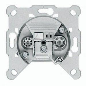 Hirschmann Antenne Wandcontactdoos (Uiteinde) - Zilver 0.8 dB