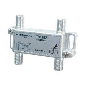 Hirschmann CATV Splitter 1.7 dB / 5 - 1218 MHz - 2 Uitgangen