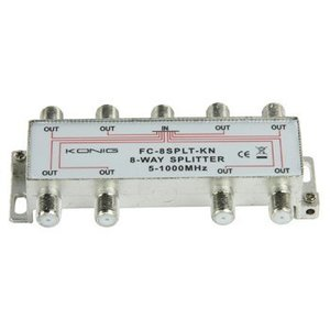 König CATV Splitter 11 dB / 5-1000 MHz - 8 Uitgangen