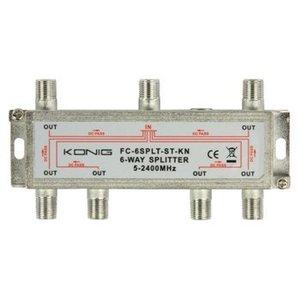 König Satelliet Splitter 17 dB / 5-2400 MHz - 6 Uitgangen