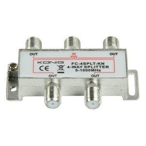 König CATV Splitter 8.0 dB / 5-1000 MHz - 4 Uitgangen