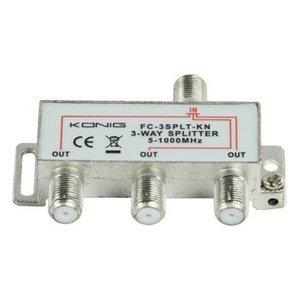 König CATV Splitter 6.8 dB / 5-1000 MHz - 3 Uitgangen