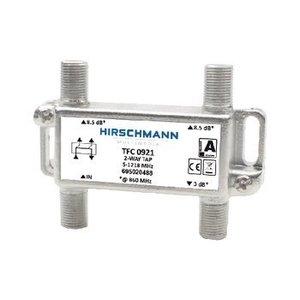 Hirschmann CATV Splitter 4.3 dB / 5-1218 MHz - 2 Uitgangen