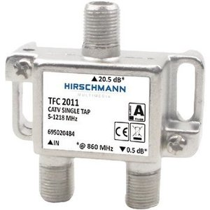 Hirschmann CATV Splitter 0.9 dB / 5-1218 MHz - 1 Uitgang