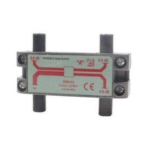 Hirschmann CATV Splitter 5.6 dB / 5-1000 MHz - 3 Uitgangen