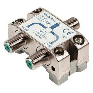 Hirschmann CATV Splitter 3.6 dB / 5-1000 MHz - 2 Uitgangen
