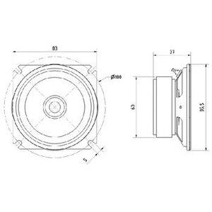 """Visaton Breedband luidspreker waterbestendig 8 cm (3.3"""")"""