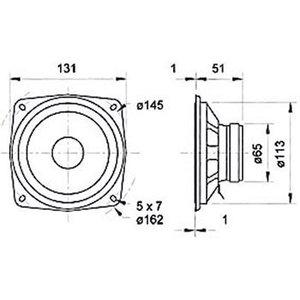 """Visaton Low / midrange luidspreker 13 cm (5"""") 8 Ohm"""