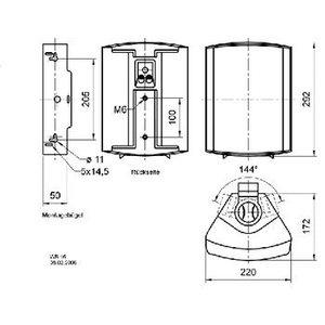 Visaton Installatie luidspreker 100 V 8 ohm zwart