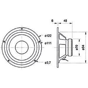 """Visaton Midrange luidspreker 10 cm (4"""") 4 Ohm"""