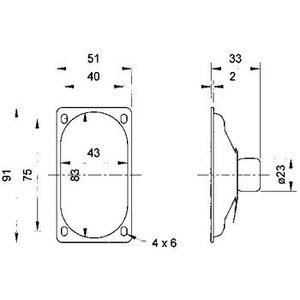 Visaton Afgeschermde ovale breedbandluidspreker 4 Ohm