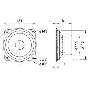 "Visaton HiFi luidspreker 13 cm (5"") 8 Ohm"