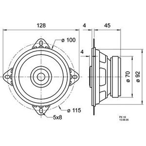 """Visaton 2-weg luidspreker 10 cm (4"""") 4 Ohm"""