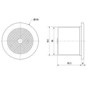 "Visaton Plafond / muur luidspreker 10 cm (4"")"