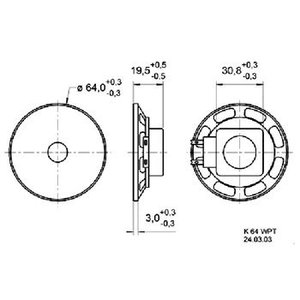"Visaton Full-range luidspreker 6.4 cm (2.5"") 8 Ohm"