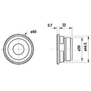 "Visaton Full-range luidspreker 5 cm (2"") 4 Ohm"