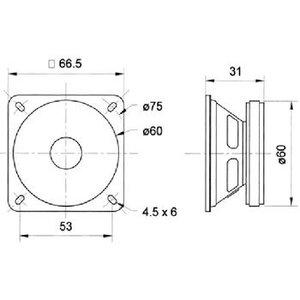 "Visaton Full-range luidspreker 6.5 cm (2.5"") 4 Ohm"