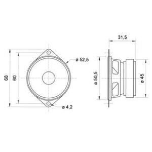 "Visaton Full-range luidspreker 5 cm (2"") 8 Ohm"