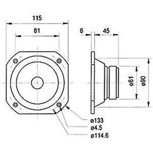 "Visaton Zeewaterbestendige full-range driver 10 cm (4"") 4 Ohm"