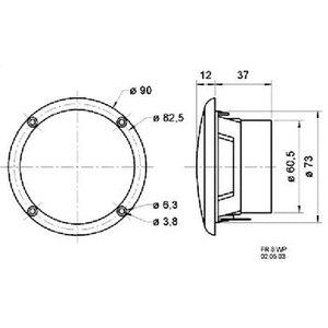 "Visaton Full-range luidspreker zoutwaterbestendig 8 cm (3.3"") 8 Ohm zwart"