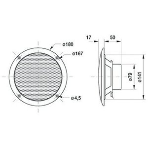 "Visaton Full-range luidspreker zoutwaterbestendig 16 cm (6.5"") 4 Ohm"