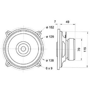 "Visaton 2-weg coaxiale luidsprekerset 13 cm (5"") 4 Ohm"