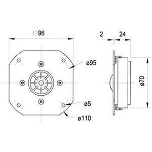 "Visaton High-End titanium dome luidspreker 25 mm (1"")"