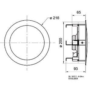 """Visaton HiFi plafond luidspreker 17 cm (6.5"""")"""