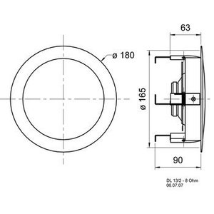 """Visaton HiFi plafond luidspreker 13 cm ( 5"""")"""