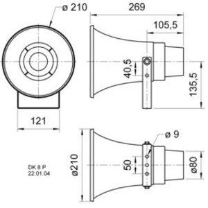 Visaton Hoorn luidspreker 100 V - 15 W