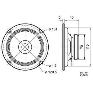 "Visaton Full-range luidspreker 13 cm (5"") 8 Ohm"