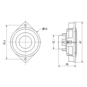 "Visaton Miniatuur luidspreker 4,5 cm (1.8"")"